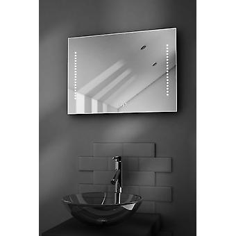 Beatrix Shaver Bathroom Mirror With Clock, Demister & Sensor k193