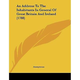 Um endereço para os habitantes em geral da Grã-Bretanha e Irlanda (1788)