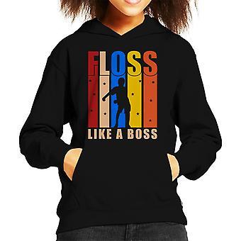 Floss Like A Boss Kid's Hooded Sweatshirt