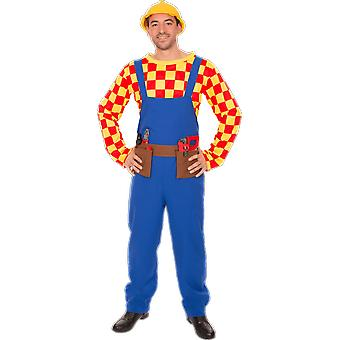 Orion Costumes Mens Bob The Builder Kids TV Cartoon Character Fancy Dress