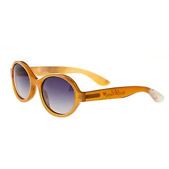 Bertha Laurel Büffelhorn polarisierte Sonnenbrille - Vanille/schwarz