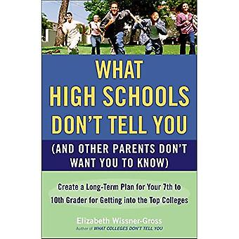 What High Schools Don't Tell You (and Other Parents Don't Want You to Know): Create a Long-Term Plan for Your 7th to 10th Grader for Getting Into the