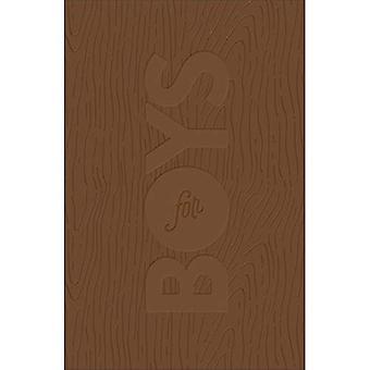 CSB Study Bible för pojkar brun, trä Design Leathertouch