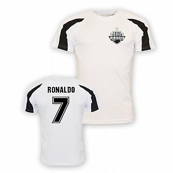 Cristiano Ronaldo Real Madrid Sports Training Jersey (white)
