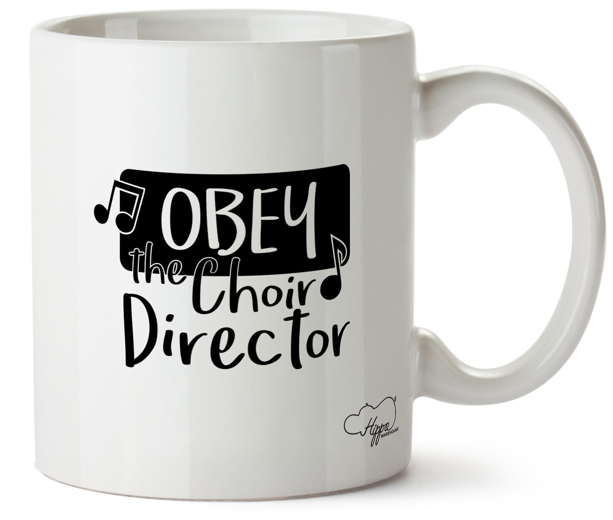 La Obéir Céramique 10oz Imprimé Directeur En Le Hippowarehouse Tasse De Chorale b6gyf7