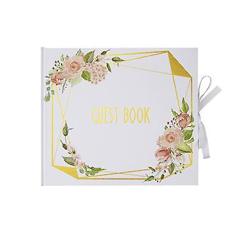 Geo Floral - Guest Book - Wedding