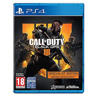 Call of Duty Black Ops 4-specialist Edition PS4 spel