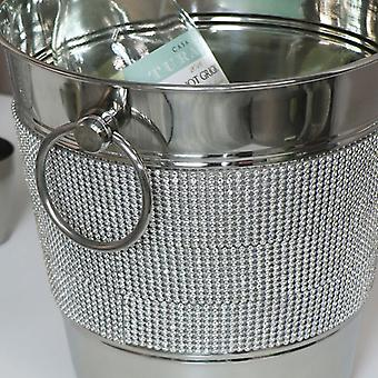 Silver Jewelled Champagne Bucket