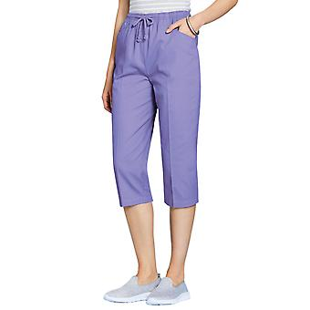 Ladies Womens Cotton Crop Trouser