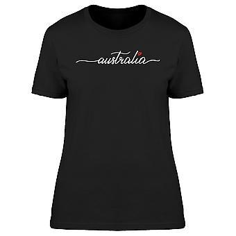 أستراليا الخط مع القلب المحملة المرأة-صورة من قبل Shutterstock