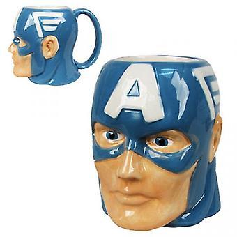 Geformte Becher Marvel New Captain America Head Sculpt 16oz lizenziert mcmg-avas-ca
