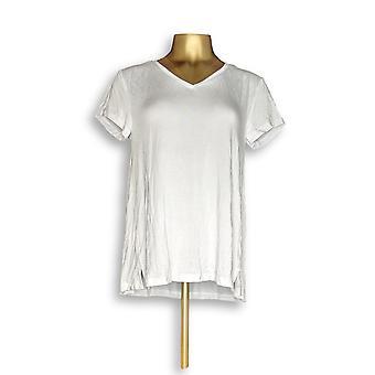 H door Halston vrouwen ' s top Essentials V-Neck Tee wit A306231