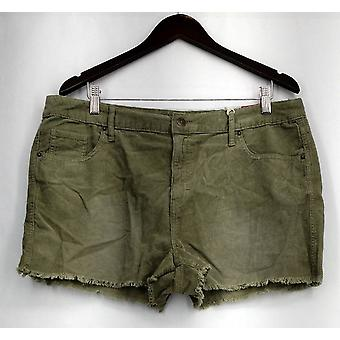 Mossimo Shorts High Rise Corduroy w/ Pockets Green Womens