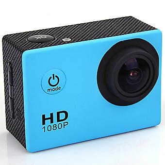 F23 outdoor action camera - 2.0 screen, hd wide angle, waterproof sports camera, dv video camcorder - blue
