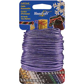Needloft Novelty Craft Cord 20 Yards Solid Purple 550 55030