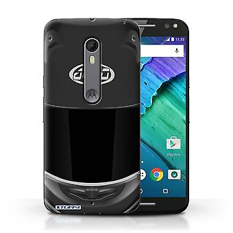 STUFF4 Case/Cover for Motorola Moto X Style/Superbike/Black/Motorcycle Helmet