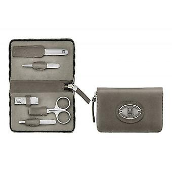 Zwilling Zip Fastener Case, 5 Pieces Neat'S Leather, Taupe