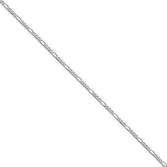14 k hvidguld Solid poleret hummer klo lukning 3,0 mm flad Figaro kæde halskæde - hummer klo - længde: 16 til 26