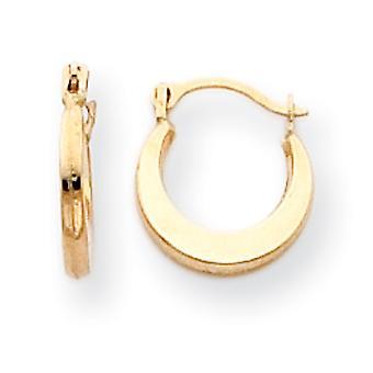 14k Gold Small Hoop Earrings - .3 Grams - Measures 9x9mm