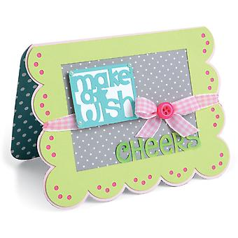 Sizzix Framelits Dies By Stephanie Barnard 15/Pkg-Scallop Banners/Greetings Drop-Ins Card 660147