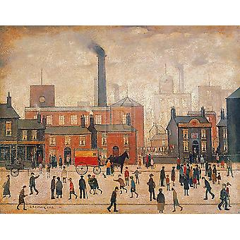 Coming Home From The Mill Poster Print by LS Lowry (30 x 24)