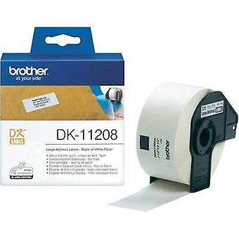 Brother Labels (roll) 90 x 38 mm Paper White 400 pc(s) Permanent DK11208 Address labels