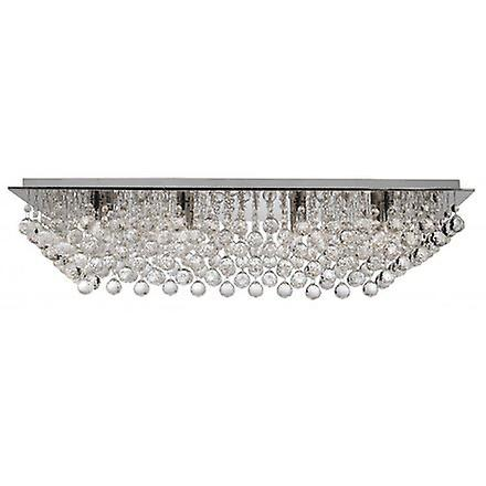 Searchlight 6728-8CC Hanna Chrome/Crystal Flush Ceiling Light
