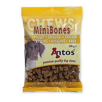 Antos Mini knogler kylling uddannelse godbid 200g (pakke med 14)
