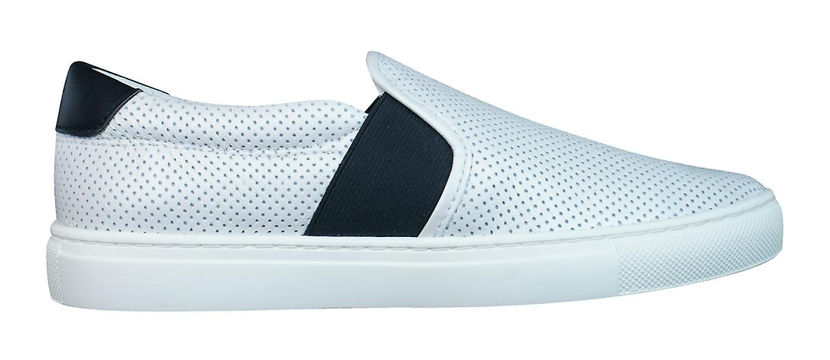 Geox D Trysure B Womens Leather Slip On Trainers / / / Shoes - White 775233