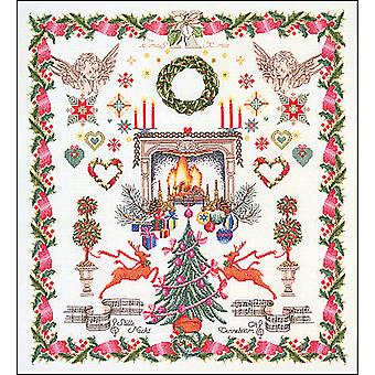 Christmas Design On Aida Counted Cross Stitch Kit-23.5