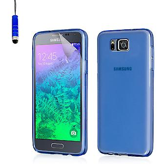 Crystal gel case voor Samsung Galaxy Alpha SM-G850 - Deep Blue