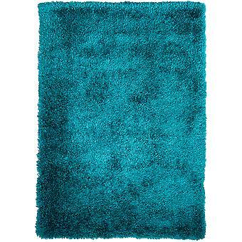 Moderne krikand blå blød Shaggy tæppe - Barrington