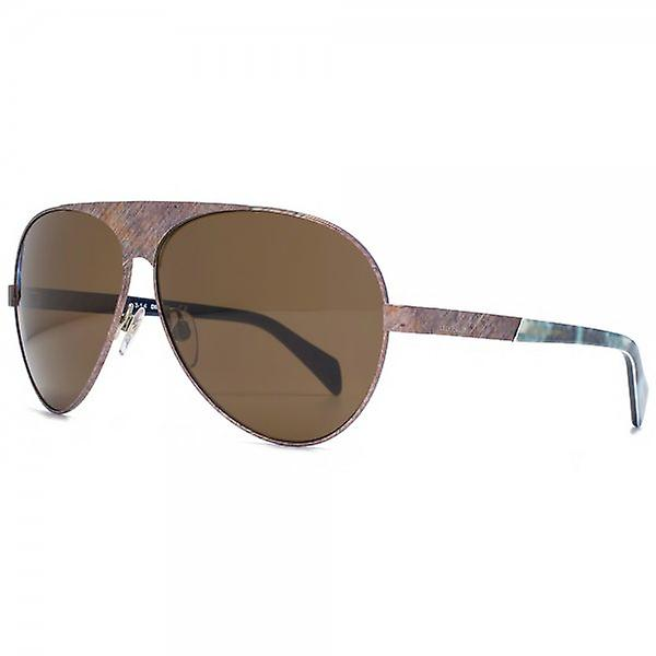Diesel Aviator Sunglasses In Matte Dark Bronze