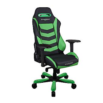 DX Racer DXRacer Iron Series OH/IS166/NE High-Back Boss Executive Chair PU Office Gaming Chair(Black/Green)