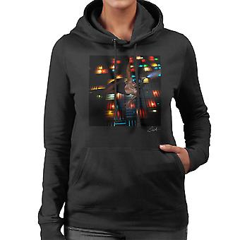 Grace Jones Disco Lichter Foto-Shooting 2008 Damen Sweatshirt mit Kapuze