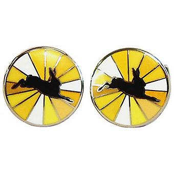 Tyler and Tyler Hare Burst Cufflinks - Yellow