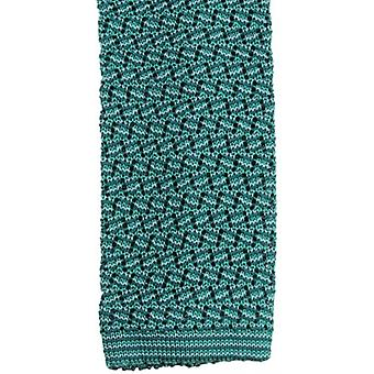 KJ Beckett Suzy Chevron Silk Tie - Green/Emerald/Soft Green