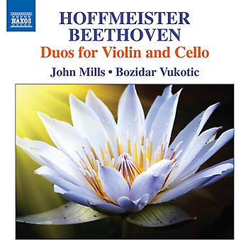 Beethoven / Mills, John / Vukotuc, Bozidar - Duos för Violin & Cello [CD] USA import