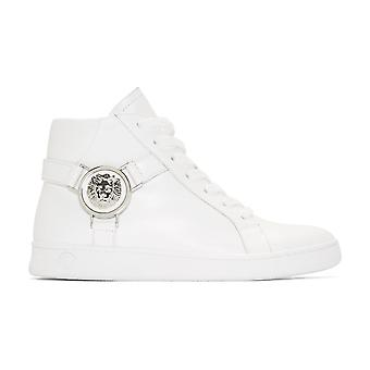 Versace Versus Fsx006c High Top Leather White Trainer