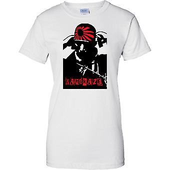 Kamikaze japanischen Selbstmord Pilot - göttlichen Wind - WW2 - Damen-T-Shirt