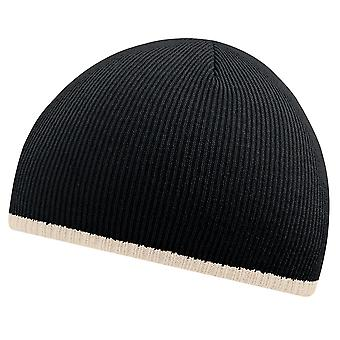 Beechfield Unisex Two-Tone Knitted Winter Beanie Hat