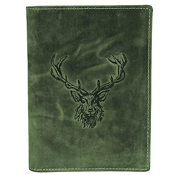 Greenburry en cuir vintage carte ID solution chasse licence affaire 328B-RS