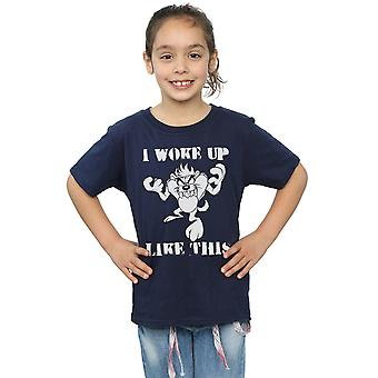 Looney Tunes Girls Taz I Woke Up Like This T-Shirt