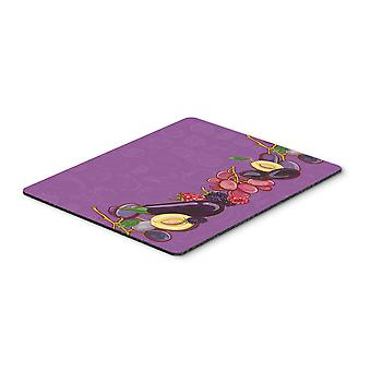 Fruits and Vegetables in Purple Mouse Pad, Hot Pad or Trivet