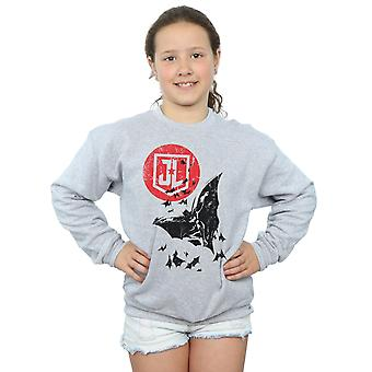 DC Comics Girls Justice League Movie Batman Moon Leap Sweatshirt