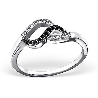 Twisted - 925 Sterling Silver Jewelled Rings