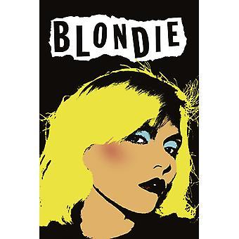 Blondie - Punk Pop Art - White Poster Poster Print
