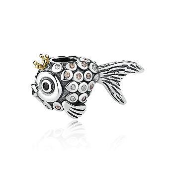 Sterling silver charm Crown fisk PSC038