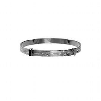 Srebrny 40mm średnicy rozwija dziecko bransoletka z diamond cut wzór