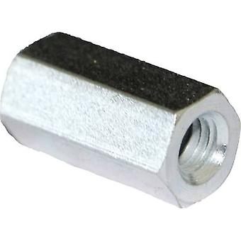 Spacer (L) 35 mm M4x9 Steel zinc plated
